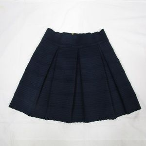 Ginger G. Navy Blue Pleated Short Skirt Size Large